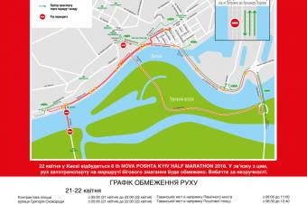 Инфо Тумбы для Nova Poshta Kyiv Half Marathon Weekend 2018